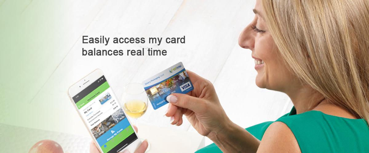 easily access my card balance real time